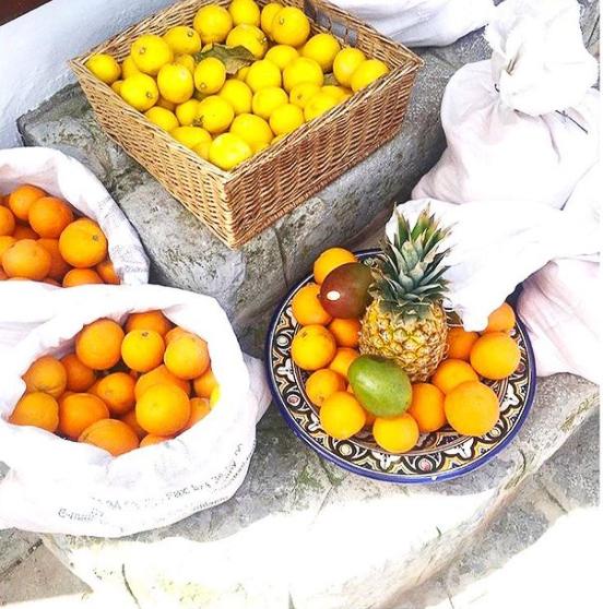 oranges ramassées au sol