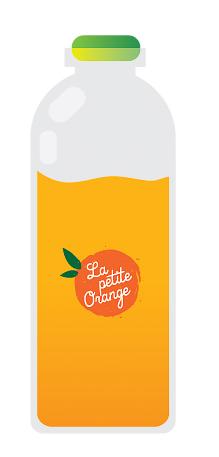 bouteille de jus d'oranges préssées