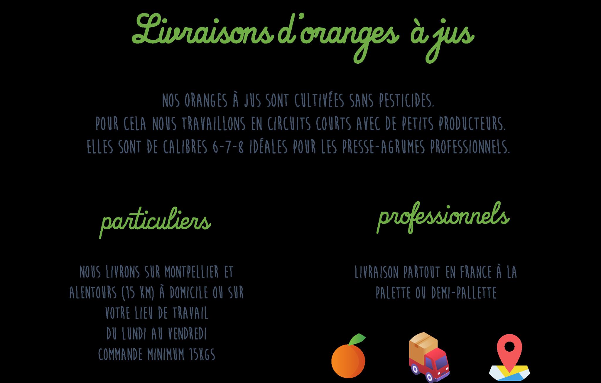 Livraison d'oranges à jus à Montpellier