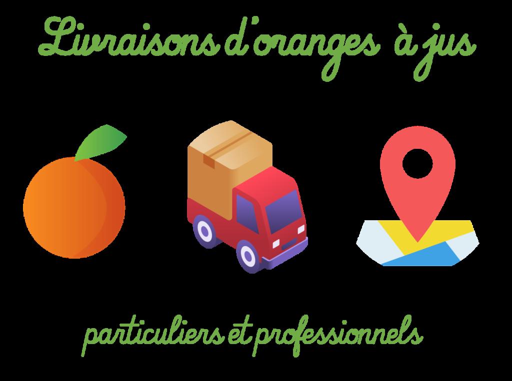 Livraison d'oranges à jus